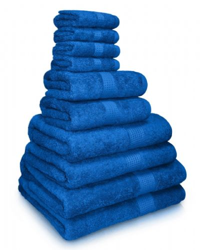 100% EGYPTIAN COMBED COTTON SUPER SOFT 650gms HOTEL QUALITY TOWELS ROYAL BLUE COLOUR